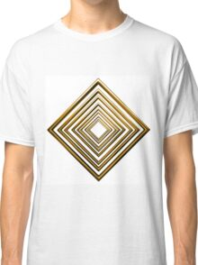 abstract rhombus gold pattern Classic T-Shirt