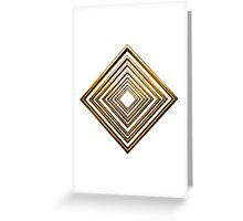 abstract rhombus gold pattern Greeting Card
