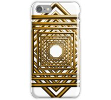 abstract square gold pattern iPhone Case/Skin
