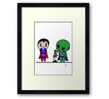 Supermans heat vision and The Martian Manhunter Framed Print