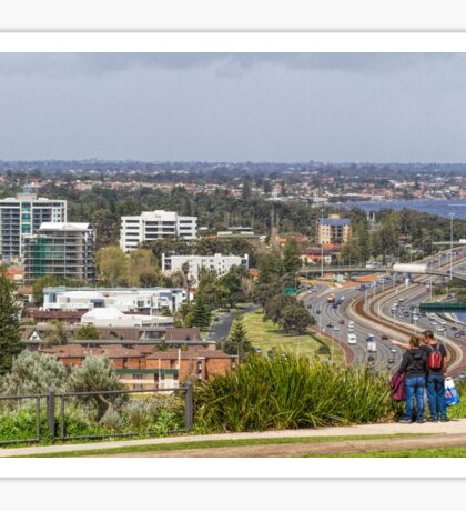 Perth City from Kings Park, Western Australia #3 Sticker