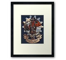 Inevitable Steampunk Version Framed Print