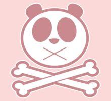 Panda Cross Bone - Pink Kids Tee