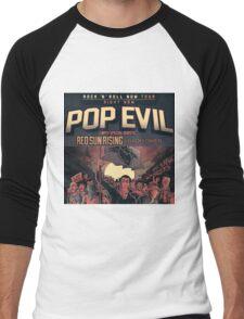 GRY02 Pop Evil Rock n Roll Now Tour 2017 Men's Baseball ¾ T-Shirt