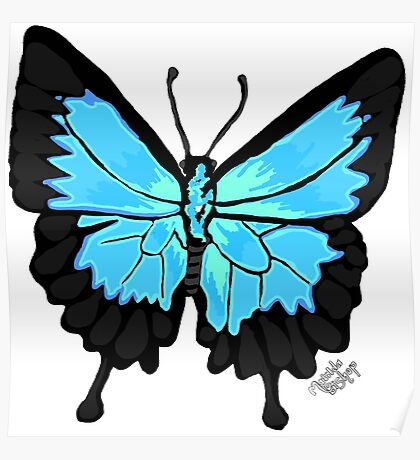 Ulysses Butterfly: Realistic Poster
