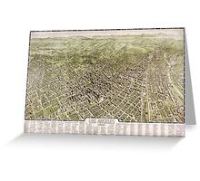 Map of Los Angeles, California - 1909 Greeting Card