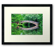 Summer landscape with a bridge Framed Print