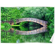 Summer landscape with a bridge Poster