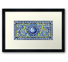 Seville Azulejos Decoration Framed Print