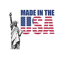 Made in the USA. (United States of America) Photographic Print