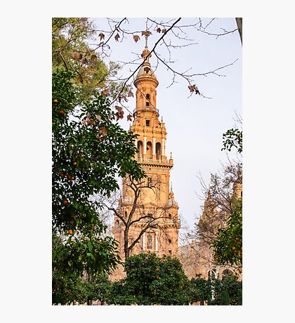 Plaza de Espana Tower  Photographic Print