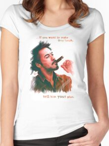 Robert Downey Jr. with cigar, digital painting  Women's Fitted Scoop T-Shirt