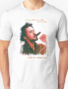 Robert Downey Jr. with cigar, digital painting  Unisex T-Shirt