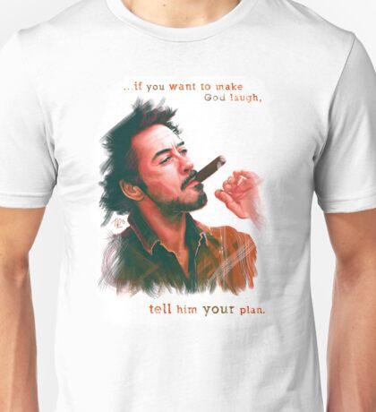 Robert Downey Jr. with cigar, digital painting  Unisex T-Shirt