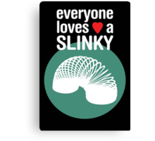 Slinky! [WHITE TEXT] Canvas Print
