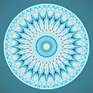 Soft Turquoise Mandala by micklyn