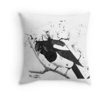 Magpie Spy Throw Pillow