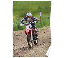 Dirt bike racing Poster