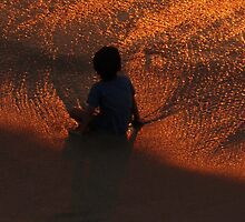 red golden sunset - puesta del sol rojo y oro by Bernhard Matejka