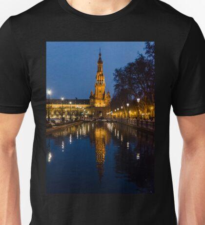 Plaza de Espana at night - Seville Unisex T-Shirt