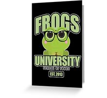 Frogs University 2 Greeting Card