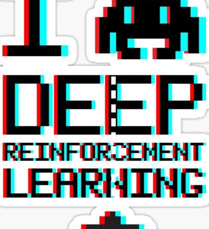I heart deep reinforcement learning, capital (8-bit 3D) Sticker