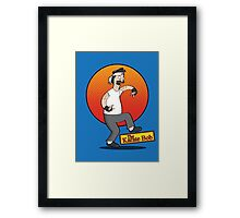The Karate Bob Framed Print