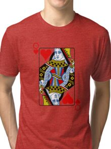 Queen of hearts playing card Tri-blend T-Shirt