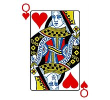 Queen of hearts playing card Photographic Print