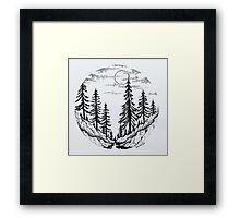 Moon Forest Framed Print