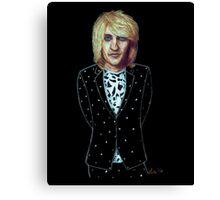 Blonde Noel Fielding in Polka Dots Canvas Print