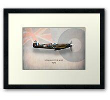 Supermarine Spitfire Mk XIX PS890 Framed Print