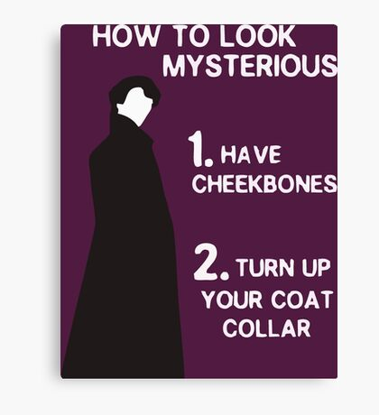 HOW TO LOOK MYSTERIOUS Canvas Print