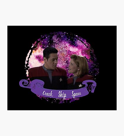 Kathryn Janeway and Commander Chakotay Photographic Print