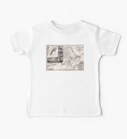 Map of Macao, Hong Kong and Pearl River Estuary - 1834 Baby Tee