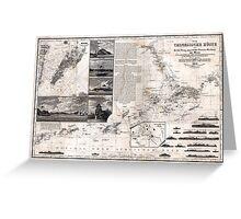 Map of Macao, Hong Kong and Pearl River Estuary - 1834 Greeting Card