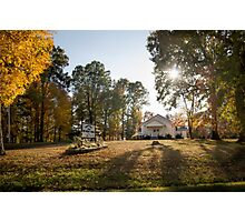 Saddler's Chapel Front View Fall 2014 Photographic Print