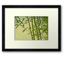 Zen bamboo abstract pattern with retro grunge feel Framed Print