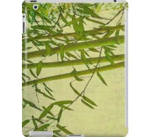 Zen bamboo abstract pattern with retro grunge feel iPad Case/Skin