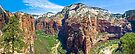 Zion Canyon Panorama by Kenneth Keifer