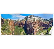 Zion Canyon Panorama Poster