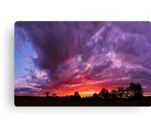 Epic Midwest Sunset and Stormy Sky Canvas Print