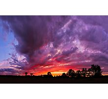 Epic Midwest Sunset and Stormy Sky Photographic Print