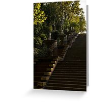 Blue and Yellow Cascade - Montjuic Park, Barcelona, Spain Greeting Card