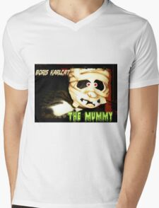 Boris Karlcat in the Halloween classic 'The Mummy' Mens V-Neck T-Shirt