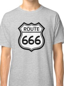 Route 666 road sign (route 66) Classic T-Shirt
