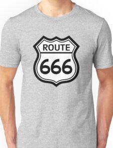 Route 666 road sign (route 66) Unisex T-Shirt