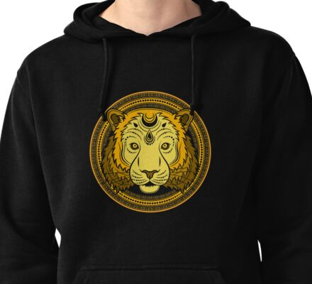 Stylized Tiger face Pullover Hoodie
