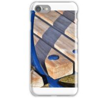 Edge of a park bench iPhone Case/Skin