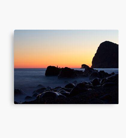 Lentas Sunset, Crete Canvas Print
